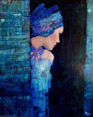 Barlet A kék ruhás nő