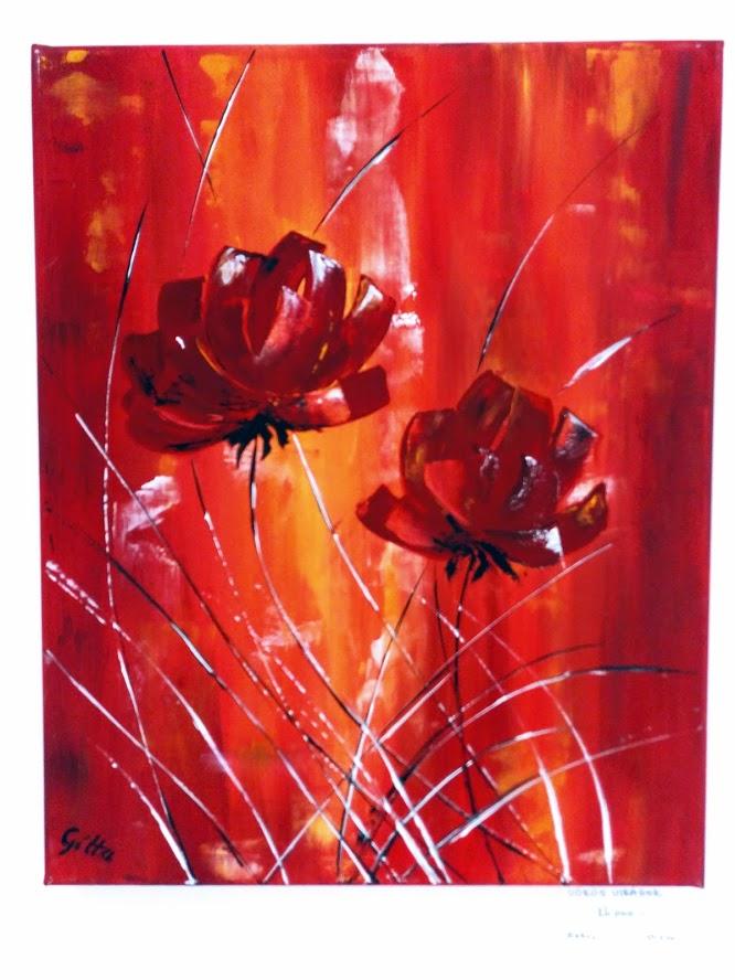 Vörös virágok (absztrakt)